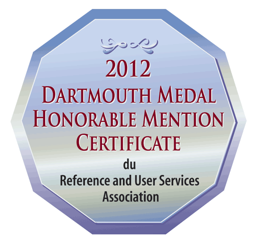2012 Dartmouth Medal