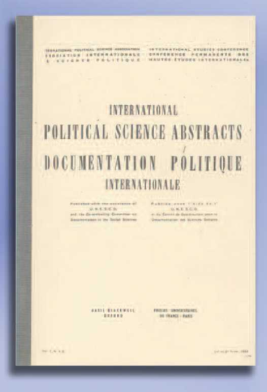 Volume 1, no. 1-2 de la Revue Internationale de Science Politique – 1951